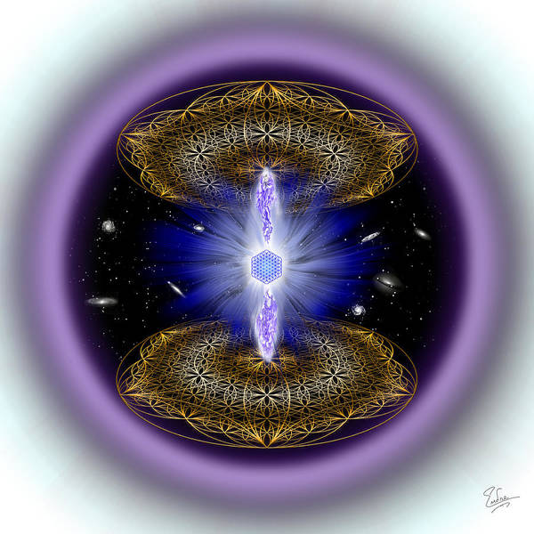 Digital Art - Sacred Geometry 556 by Endre Balogh