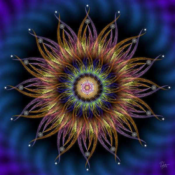 Digital Art - Sacred Geometry 557 by Endre Balogh