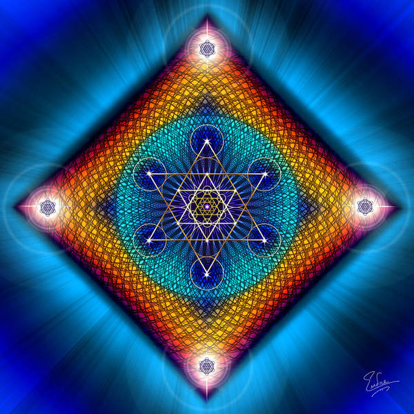 Digital Art - Sacred Geometry 561 by Endre Balogh