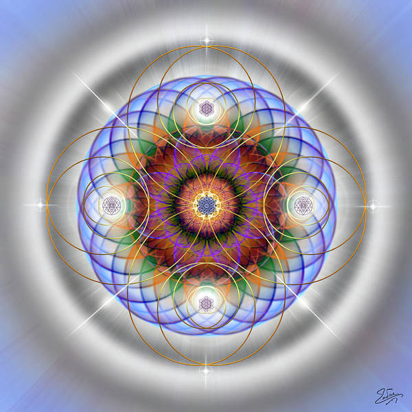 Digital Art - Sacred Geometry 562 by Endre Balogh