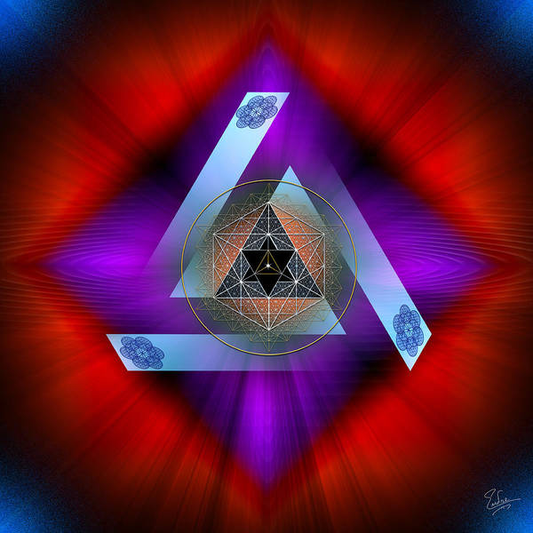 Digital Art - Sacred Geometry 563 by Endre Balogh