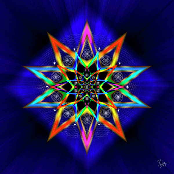 Digital Art - Sacred Geometry 566 by Endre Balogh