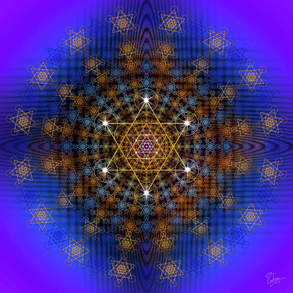 Digital Art - Sacred Geometry 572 by Endre Balogh