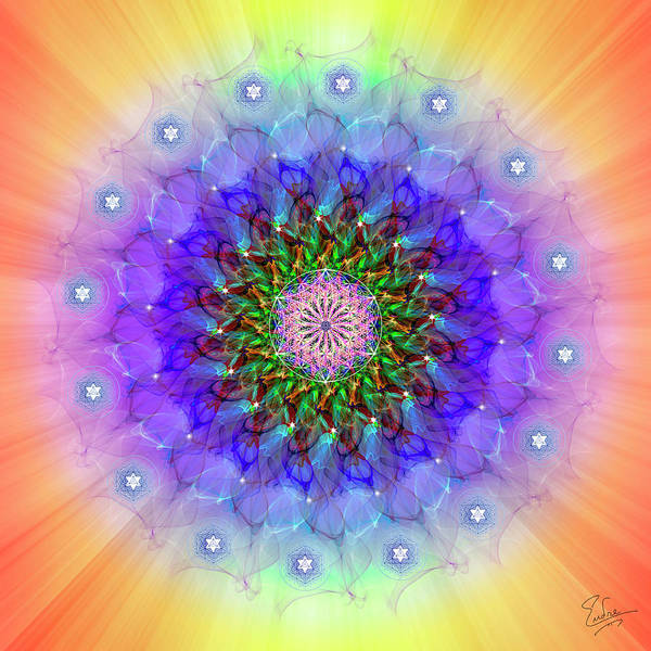 Photograph - Sacred Geometry 580 by Endre Balogh