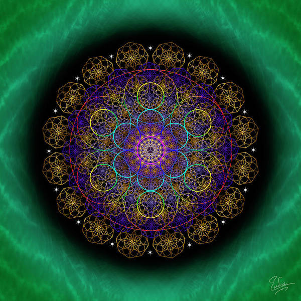 Digital Art - Sacred Geometry 581 by Endre Balogh