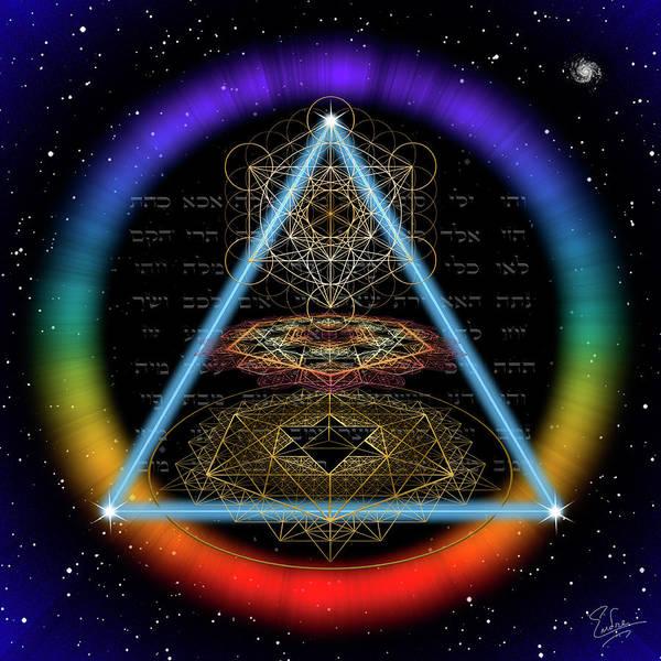 Digital Art - Sacred Geometry 585 by Endre Balogh