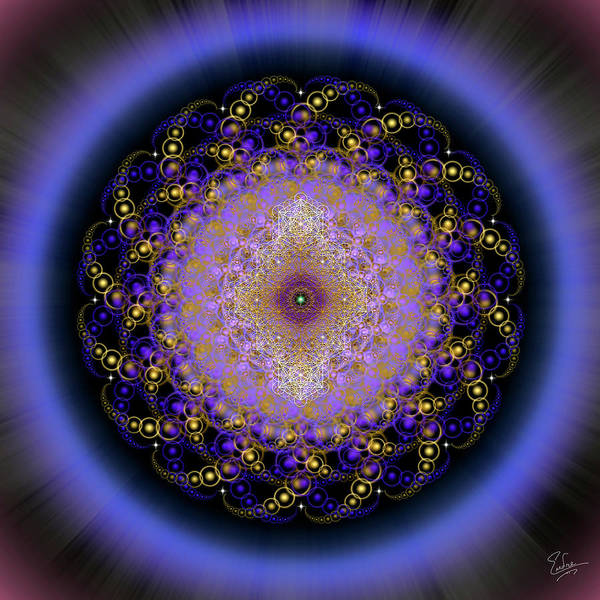 Digital Art - Sacred Geometry 588 by Endre Balogh