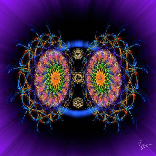 Digital Art - Sacred Geometry 590 by Endre Balogh
