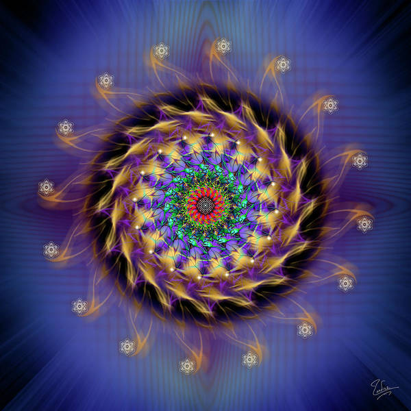Digital Art - Sacred Geometry 591 by Endre Balogh