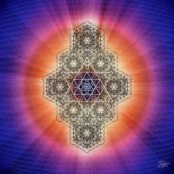 Photograph - Sacred Geometry 597 by Endre Balogh