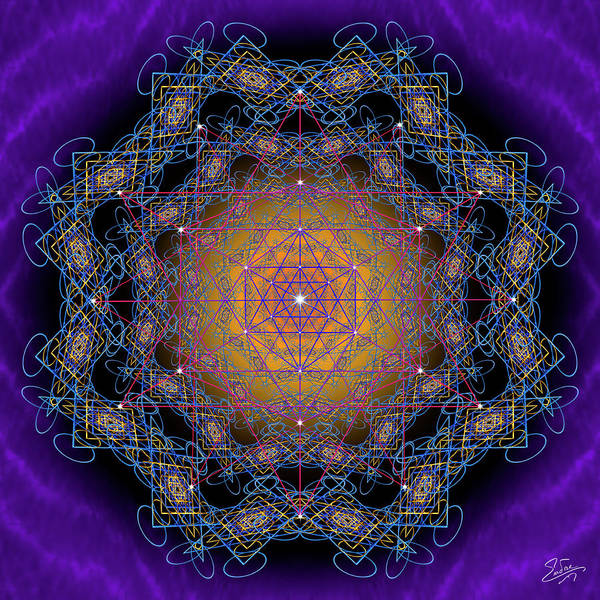 Photograph - Sacred Geometry 598 by Endre Balogh