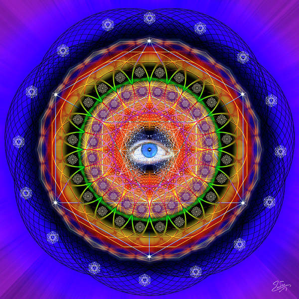 Photograph - Sacred Geometry 601 by Endre Balogh