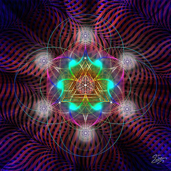 Photograph - Sacred Geometry 602 by Endre Balogh