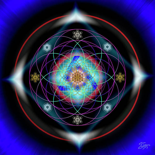 Photograph - Sacred Geometry 603 by Endre Balogh