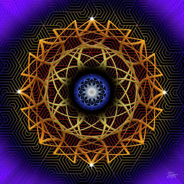 Photograph - Sacred Geometry 604 by Endre Balogh