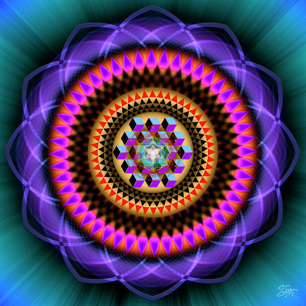 Photograph - Sacred Geometry 606 by Endre Balogh