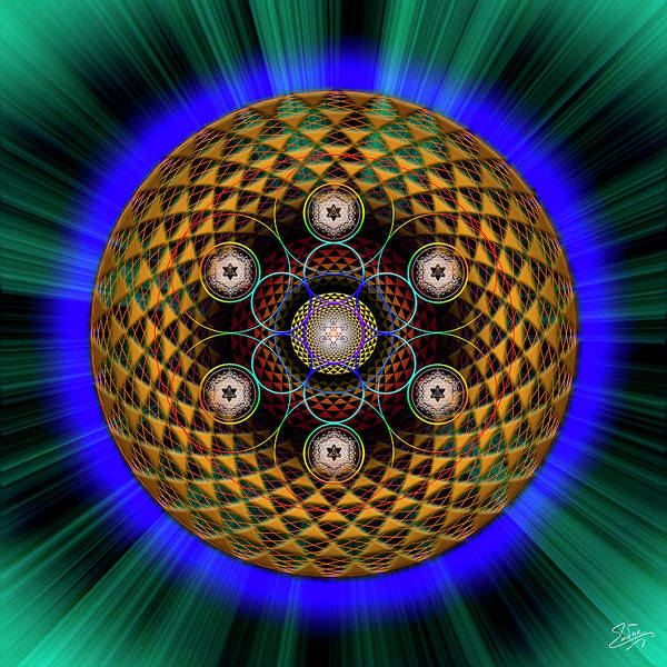 Photograph - Sacred Geometry 608 by Endre Balogh