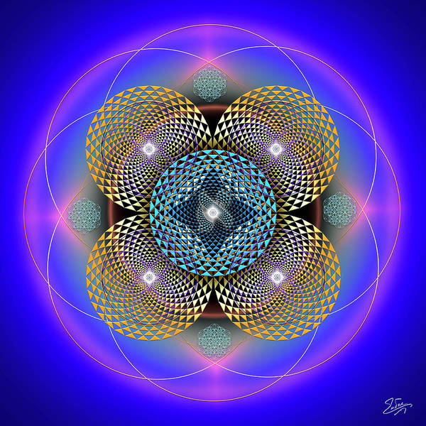 Photograph - Sacred Geometry 610 by Endre Balogh