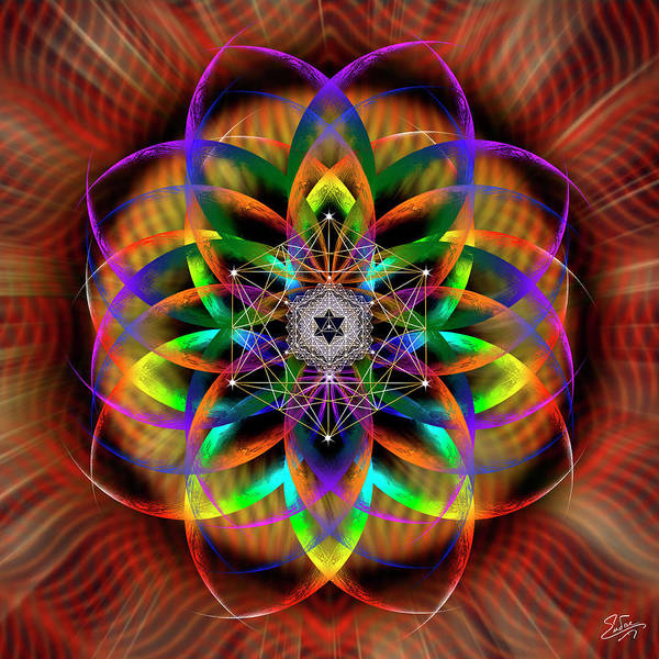 Photograph - Sacred Geometry 615 by Endre Balogh