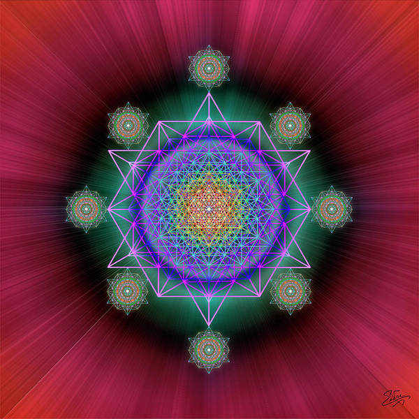 Photograph - Sacred Geometry 618 by Endre Balogh