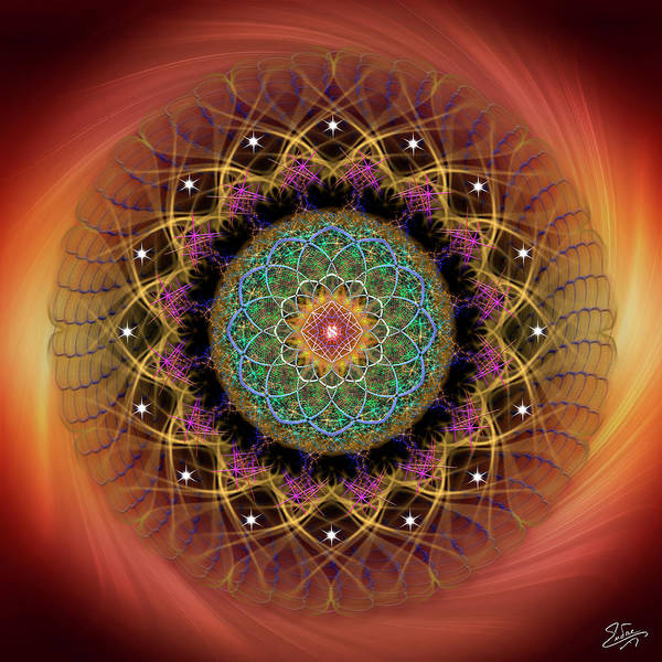 Photograph - Sacred Geometry 619 by Endre Balogh