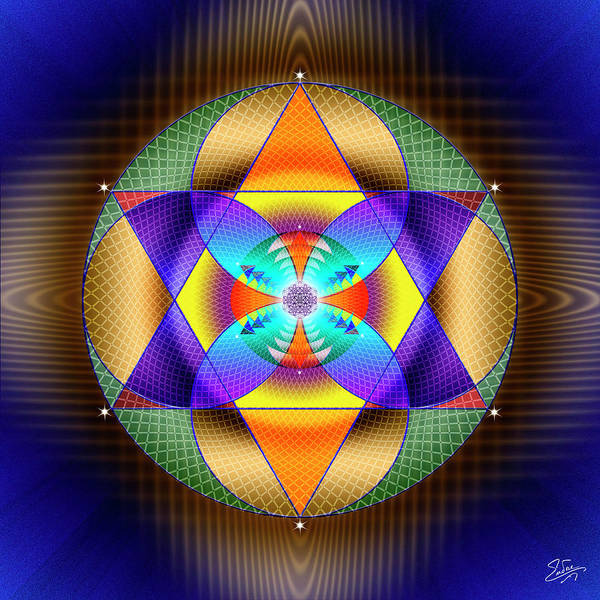 Photograph - Sacred Geometry 628 by Endre Balogh