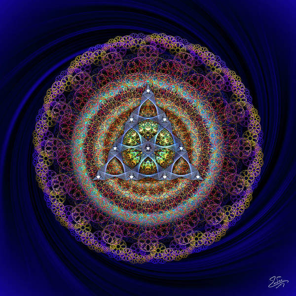 Photograph - Sacred Geometry 631 by Endre Balogh
