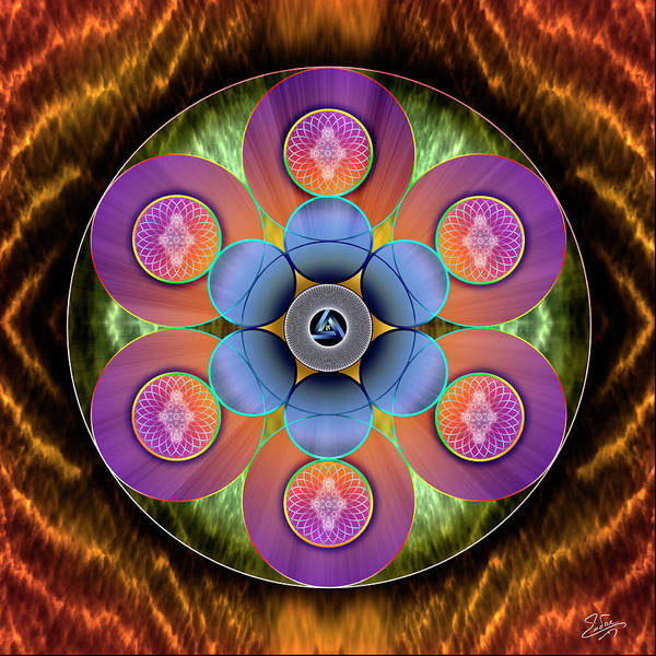 Photograph - Sacred Geometry 633 by Endre Balogh