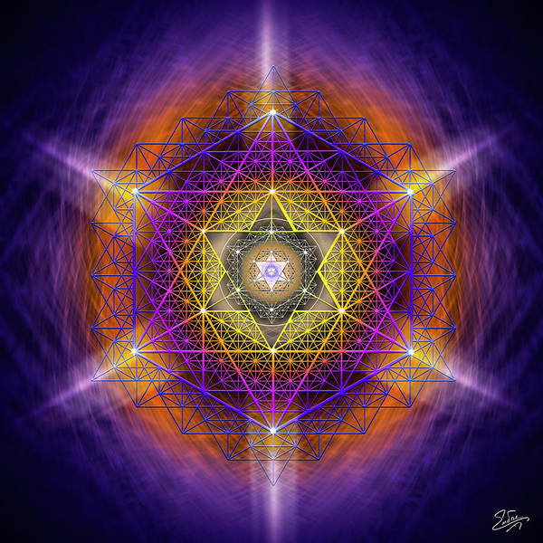 Photograph - Sacred Geometry 637 by Endre Balogh