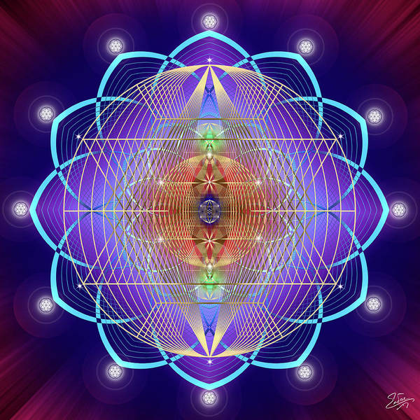 Photograph - Sacred Geometry 641 by Endre Balogh