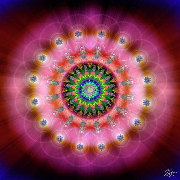Photograph - Sacred Geometry 644 by Endre Balogh