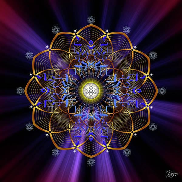 Digital Art - Sacred Geometry 647 by Endre Balogh