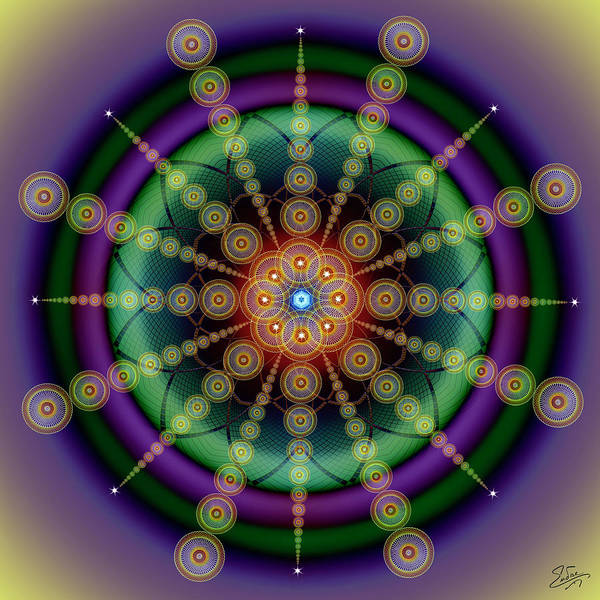 Digital Art - Sacred Geometry 652 by Endre Balogh