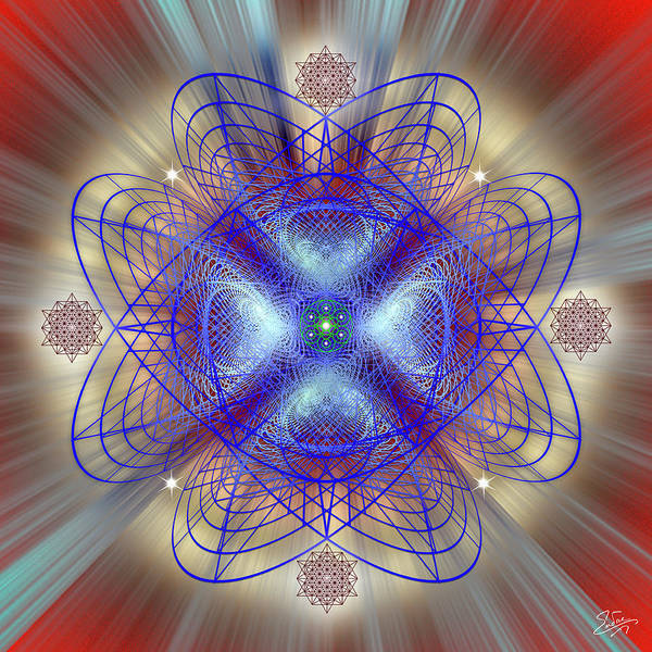 Digital Art - Sacred Geometry 656 by Endre Balogh