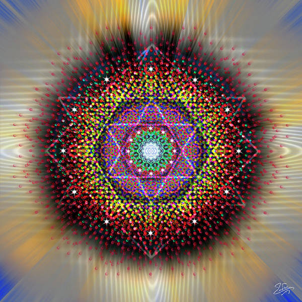 Digital Art - Sacred Geometry 657 by Endre Balogh