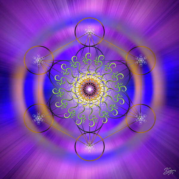 Digital Art - Sacred Geometry 658 by Endre Balogh