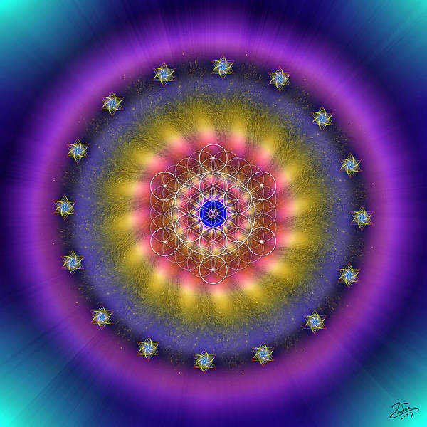 Digital Art - Sacred Geometry 659 by Endre Balogh