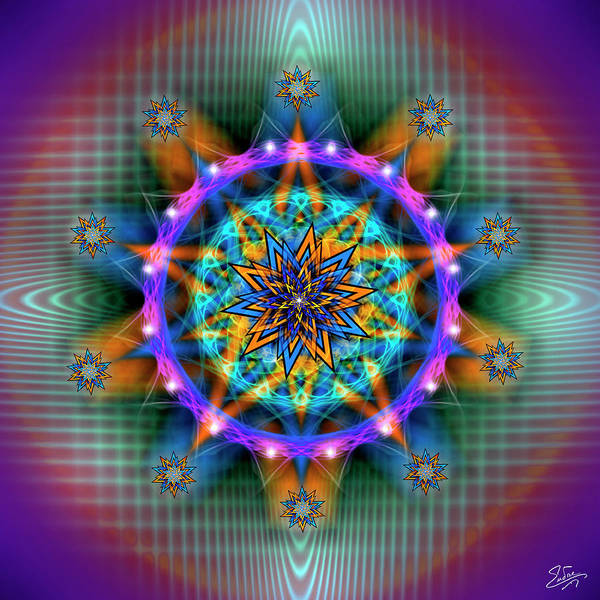Digital Art - Sacred Geometry 661 by Endre Balogh