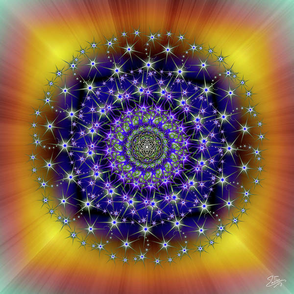 Digital Art - Sacred Geometry 663 by Endre Balogh