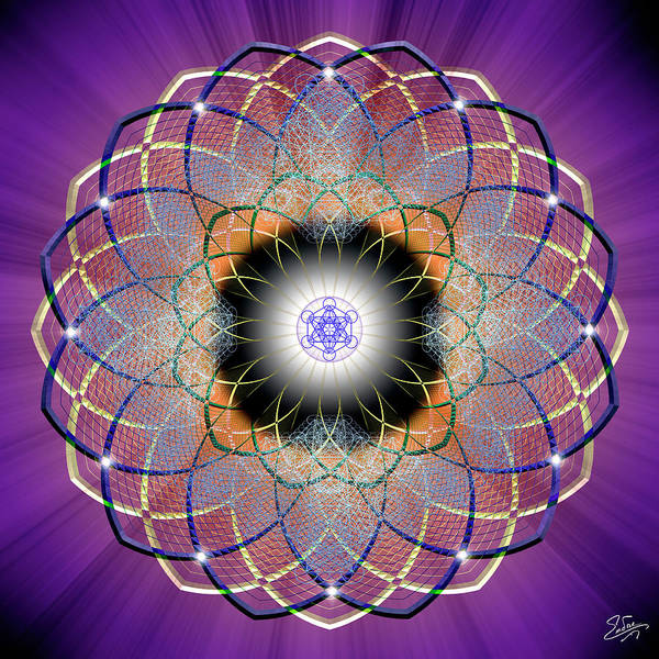 Photograph - Sacred Geometry 668 by Endre Balogh