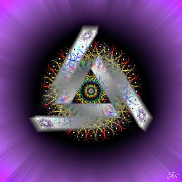 Digital Art - Sacred Geometry 671 by Endre Balogh