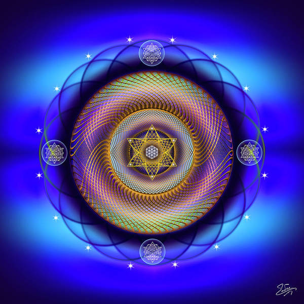 Digital Art - Sacred Geometry 672 by Endre Balogh