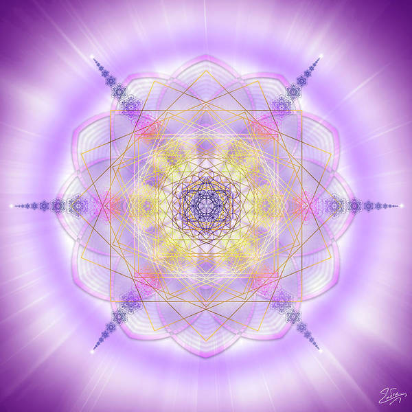 Digital Art - Sacred Geometry 674 by Endre Balogh