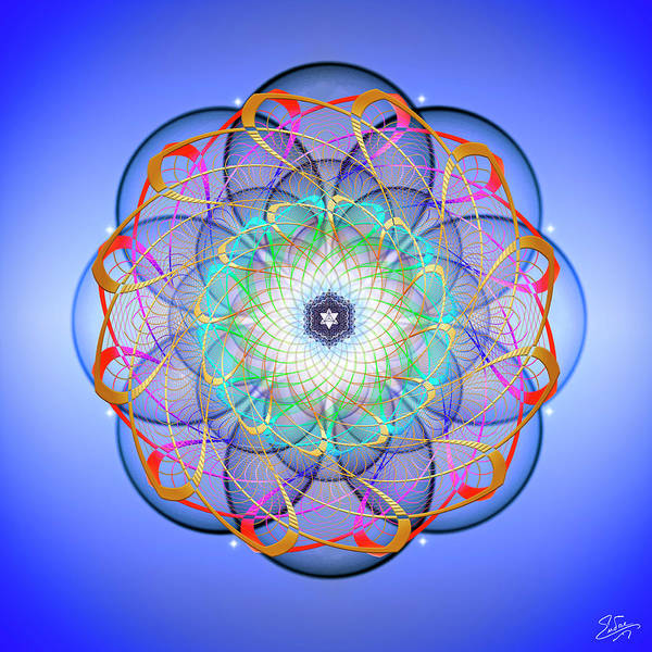 Digital Art - Sacred Geometry 675 by Endre Balogh