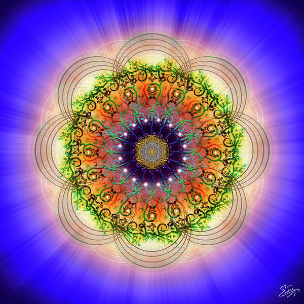 Digital Art - Sacred Geometry 683 by Endre Balogh