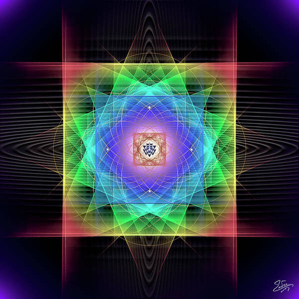 Digital Art - Sacred Geometry 684 by Endre Balogh