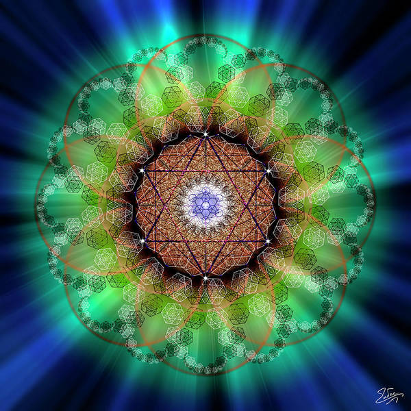 Photograph - Sacred Geometry 685 by Endre Balogh