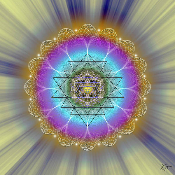 Digital Art - Sacred Geometry 686 by Endre Balogh