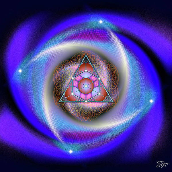 Digital Art - Sacred Geometry 687 by Endre Balogh
