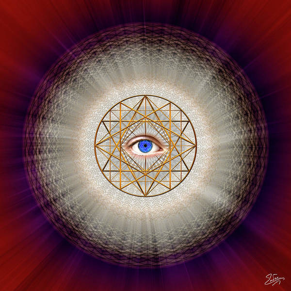 Digital Art - Sacred Geometry 688 by Endre Balogh